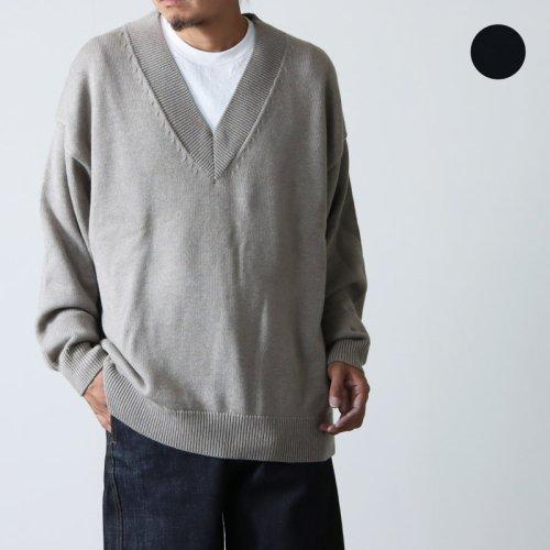 STUDIO NICHOLSON (スタジオニコルソン) CORTINA STAND COLLAR PATCH POCKET SHIRT / スタンドカラー パッチポケットシャツ