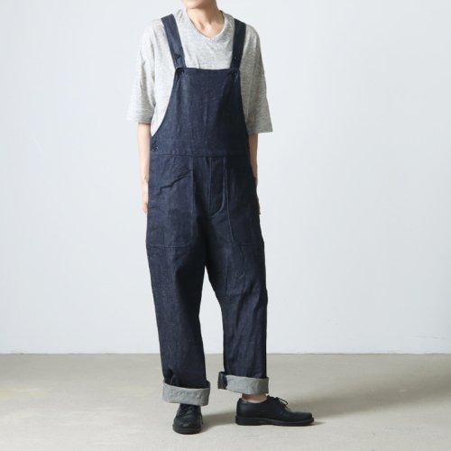 YAECA (ヤエカ) WRITE OVER ALL Cotton Linen / ライトオーバーオールコットンリネン