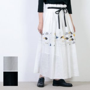 si-si-si (スースースー) グラフィティ オブ バード プリントスカート
