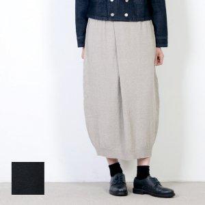 evameva (エヴァムエヴァ) Double coverring tuck skirt / ダブルカバーリングタックスカート