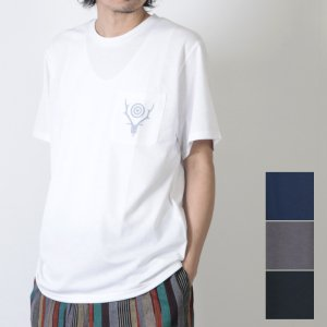 South2 West8 (サウスツーウエストエイト) Round Pocket Tee - Circle Horn / ラウンドポケットT
