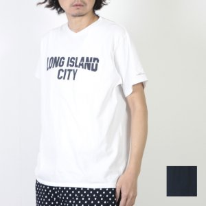 ENGINEERED GARMENTS (エンジニアードガーメンツ) Printed Cross Crew Neck T-shirt - Long Island City