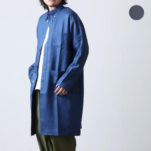 nisica (ニシカ) リネンストライプボタンダウンシャツ