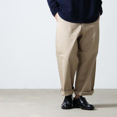 YAECA (ヤエカ) CONTEMPO 2WAY WIDE TAPERD PANTS / コンテンポ 2ウェイワイドテーパードパンツ