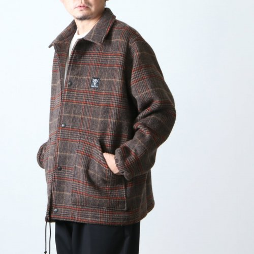 South2 West8 (サウスツーウエストエイト) Coach Jacket - Double Cloth Plaid / コーチジャケット