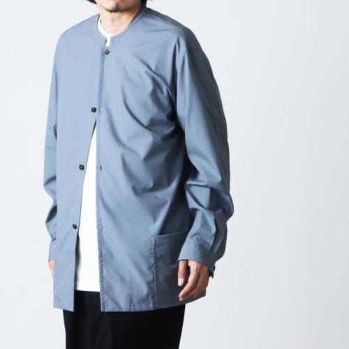 THE HINOKI (ザ ヒノキ) オーガニックコットンポプリン スタンドアップカラーシャツ ベンガラ染め