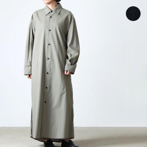 THE HINOKI (ザ ヒノキ) オーガニックコットン ロングスリーブベルテッドドレス