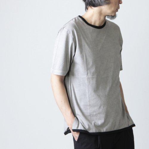 THE HINOKI (ザ ヒノキ) オーガニックコットン リンガーTシャツ 黒縁取り ベンガラ染め