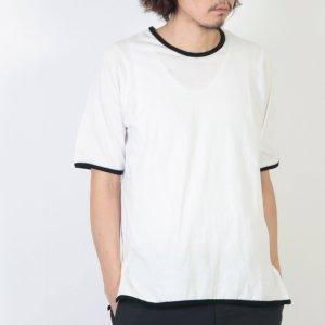 THE HINOKI (ザ ヒノキ) オーガニックコットン リンガーTシャツ 黒縁取り