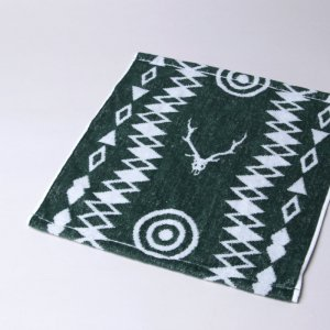 South2 West8 (サウスツーウエストエイト) Wash Towel - Cotton Jacquard / Target & Skull / ウォッシュタオル