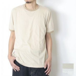 YAECA (ヤエカ) PIPING TEE / 丸胴トリムTシャツ