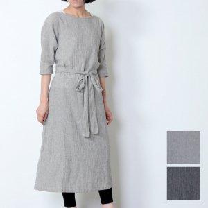 evameva (エヴァムエヴァ) Cotton linen onepiece / コットンリネンワンピース