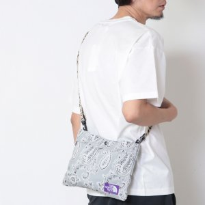 THE NORTH FACE PURPLE LABEL (ザ ノースフェイス パープルレーベル) Paisley Print Logo Tape Lightweight Shoulder Bag