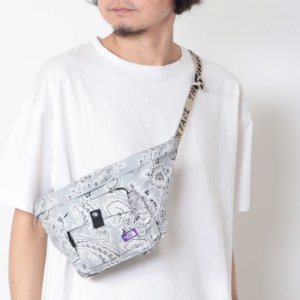 THE NORTH FACE PURPLE LABEL (ザ ノースフェイス パープルレーベル) Paisley Print Logo Tape Lightweight Waist Bag