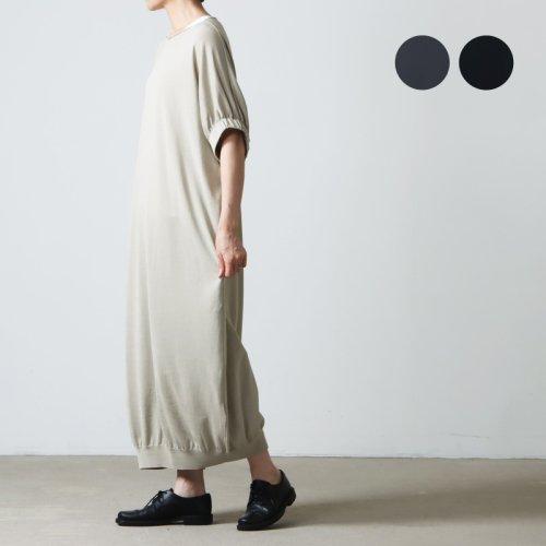 evameva (エヴァムエヴァ) Cashe coeur gather robe / カシュクールギャザーローブ