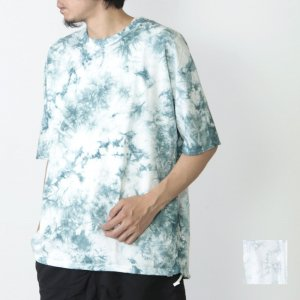 CURLY (カーリー) CLOUDY HS SWEAT with CAGE DYE / クラウディー ハーフスリーブスウェット