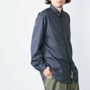 ENGINEERED GARMENTS (エンジニアードガーメンツ) Short Collar Shirt - Big Polka Dot Broadcloth / ショートカラーシャツ
