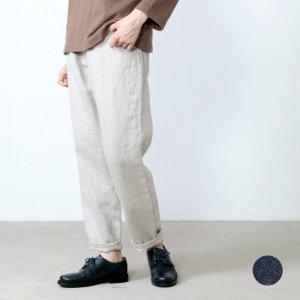 Vlas blomme (ヴラスブラム) コルトレイクリネンデニム5ポケットパンツ