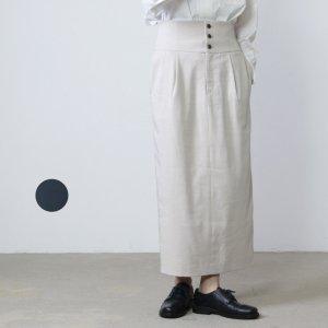 yangany (ヤンガニー) リヨセル起毛ツイルハイウエストタイトスカート