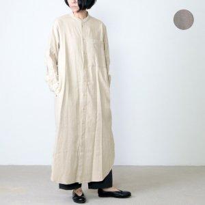 unfil (アンフィル) shankar cotton flannel shirt dress / シャンカールコットンフランネルシャツドレス