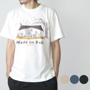 [THANK SOLD] and wander (アンドワンダー) made in fall printed T / メイドインフォール プリントT