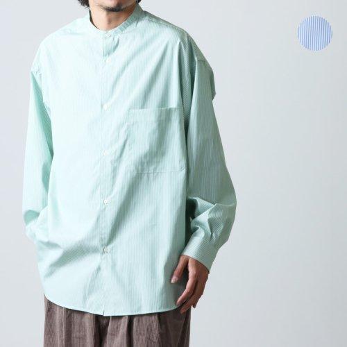 Graphpaper (グラフペーパー) Dungaree Band Collar Oversized Shirt / ダンガリー バンドカラーオーバーサイズシャツ