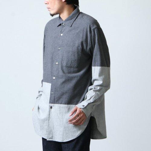 ENGINEERED GARMENTS (エンジニアードガーメンツ) Spread Collar Shirt - Brushed Twill / スプレッドカラーシャツ ブラッシュドツイル