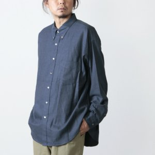 Graphpaper (グラフペーパー) THOMAS MASON L/S B.D Box Shirt Nel / ロングスリーブボタンダウンボックスシャツ ネル