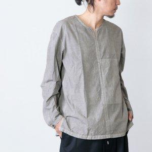 THE HINOKI (ザ ヒノキ) オーガニックコットンポプリンプルオーバーシャツ ベンガラ染め