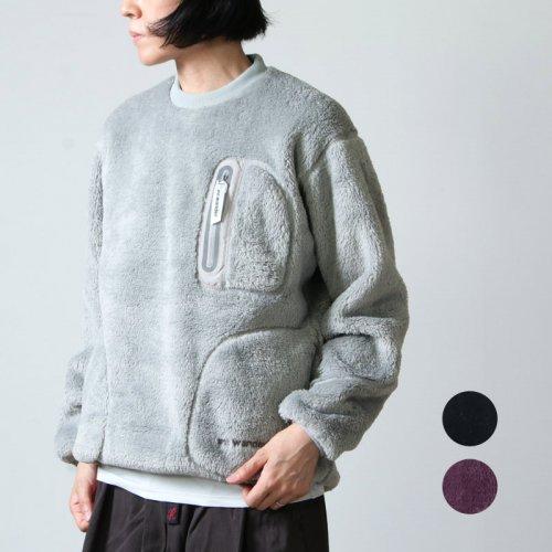 and wander (アンドワンダー) high loft fleece pullover for woman / ハイロフトフリースプルオーバー レディース