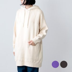 unfil (アンフィル) cotton fleece long hoodie / コットンフリースロングフーディー