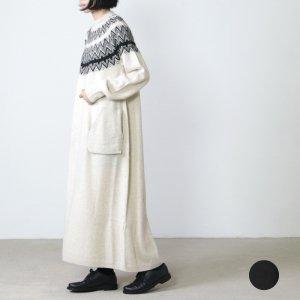 unfil (アンフィル) geelong rambs and mohair silk jaquard knit dress / ジーロンラムズウールシルクモヘアジャガードニットドレス