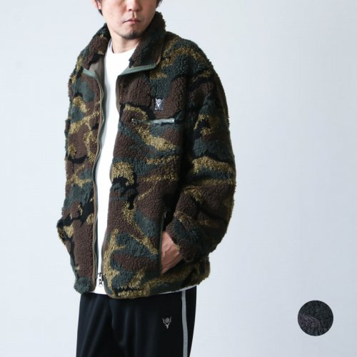 South2 West8 (サウスツーウエストエイト) Piping Jacket - Poly Jacquard Pile / S2W8 Native Pattern / パイピングジャケット