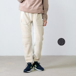 and wander (アンドワンダー) high loft fleece long pants / ハイロフトフリースロングパンツ