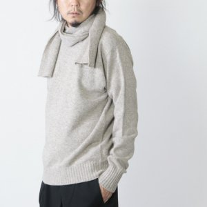 KAPTAIN SUNSHINE (キャプテンサンシャイン) Black Melino Scarfneck Seemless P/O Sweater / スカーフネックセーター