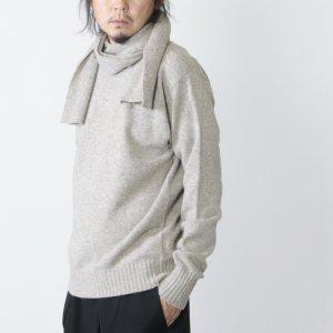 KAPTAIN SUNSHINE (キャプテンサンシャイン) Black Melino Scarfneck Seemless P/O Sweater / スカーフネックセーター