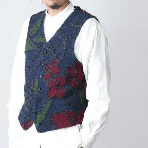 ENGINEERED GARMENTS (エンジニアードガーメンツ) Knit Vest - Floral Knit Jacquard / ニットベスト -フローラルニットジャガード