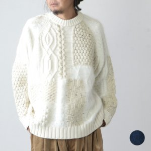 [THANK SOLD] is-ness (イズネス) MOSAIC KNITTED SWEATER / モザイクニットセーター