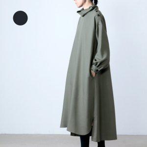 [THANK SOLD] SI-HIRAI (スーヒライ) レーヨンポリエステルダブルクロスハイネックドレス