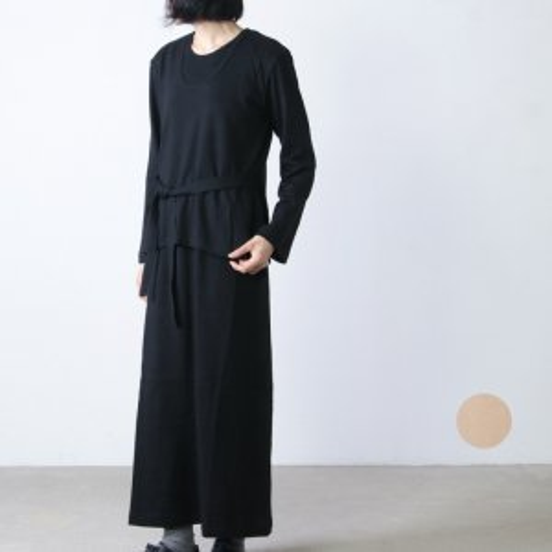 THE HINOKI (ザ ヒノキ) オーガニックコットンロングスリーブレイヤードドレス