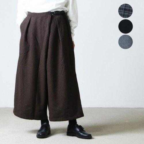 GRAMICCI (グラミチ) WOOL BLEND DOUBLE MACKIN WIDE PANTS / ウールブレンドダブルマッキンワイドパンツ