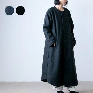 have a good day (ハブアグッドデイ) Wool no collar coat / ウールノーカラーコート