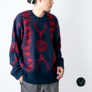 South2 West8 (サウスツーウエストエイト) Loose Fit Sweater - Mohair / S2W8 Native Pattern / ルーズフィットセーター モヘヤ