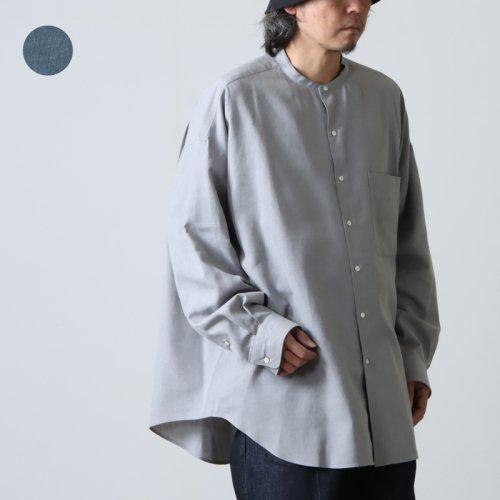 Graphpaper (グラフペーパー) Wool Check Regular Collar Big Sleeve Shirt / ウールチェック レギュラーカラービッグシルエットシャツ