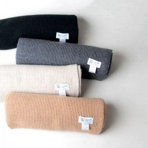 Johnstons (ジョンストンズ) cashmere ribbed wide scarf / カシミヤリブワイドスカーフ