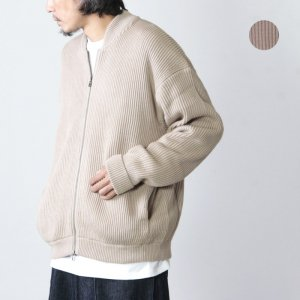 crepuscule (クレプスキュール) rib stitch zip cardigan / リブステッチジップカーディガン