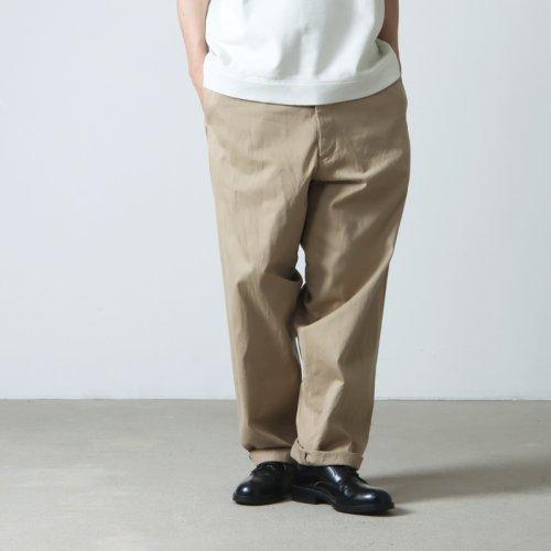 YAECA (ヤエカ) CHINO CLOTH PANTS WIDE TAPERED / チノクロスパンツ ワイドテーパード