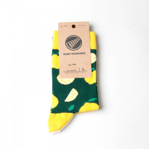 MANY MORNINGS (メニーモーニングス) Regular Socks Lemon / レギュラーソックス レモン
