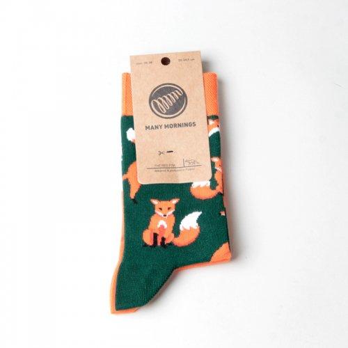 MANY MORNINGS (メニーモーニングス) Regular Socks The Red Fox / レギュラーソックス ザ・レッド・フォックス