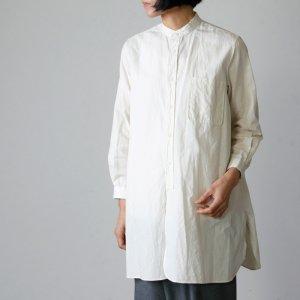 YAECA (ヤエカ) WRITE STAND COLLAR SHIRT cotton linen / ライトスタンドカラーシャツコットンリネン